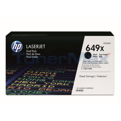HP LJ 649X TONER CARTRIDGES BLACK DUAL PACK
